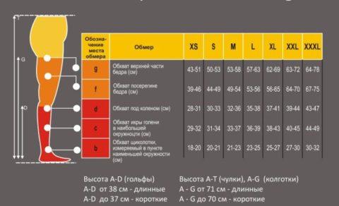 Как определить свой размер компрессионного белья