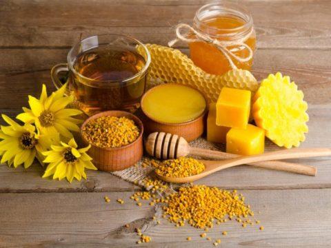 Продукты пчеловодства для приготовления мази от варикоза