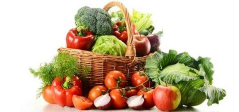 Овощи и фрукты - основа рациона