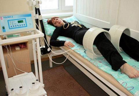 Физиопроцедуры при заболевании