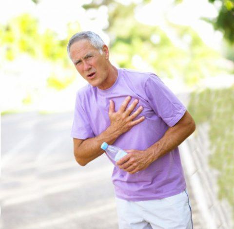 Приступы боли в груди во время физической нагрузки – первый признак стенокардии