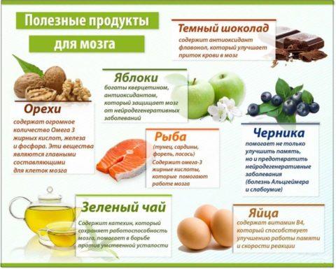 Продукты, полезные для органов ЦНС