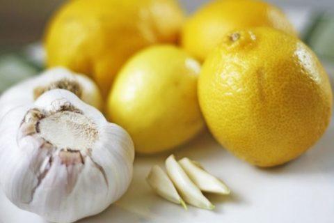 Лимон и чеснок, полезные качества продуктов