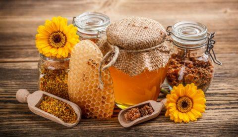 Мед, пыльца и воск