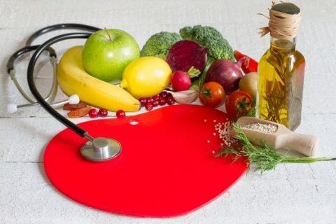 Пища имеет огромное влияние на работу сердца и сосудов