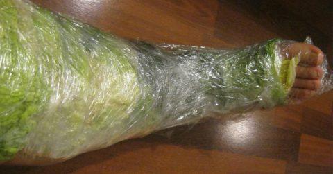 Компресс из капусты