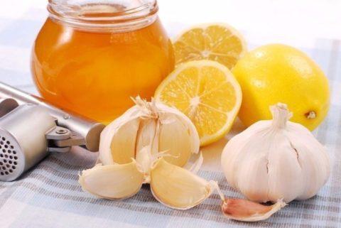 Мед и чеснок (на фото) – незаменимые стражи здоровья сосудов и сердечной мышцы.