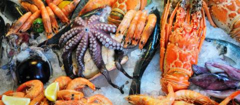 Различные морепродукты особенно полезны