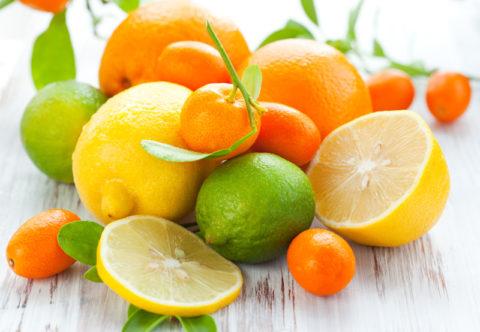 Цитрусовые – источник витамина С и антиоксидантов, необходимых при атеросклерозе