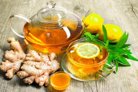 Напиток с имбирём, лимоном и мёдом