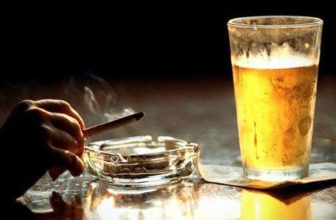 Курение и выпивка негативно отражаются на работе сердечно-сосудистой системы