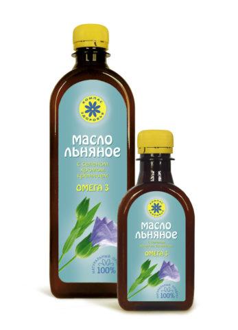 Упаковка масла льняного