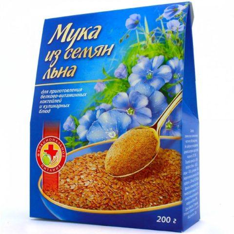 Упаковка муки из семян льна