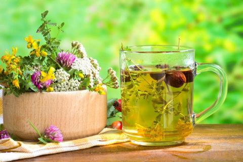 Травяной чай на основе клевера