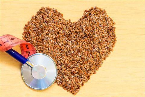 Семена льна помогают в лечении сердечно-сосудистых заболеваний