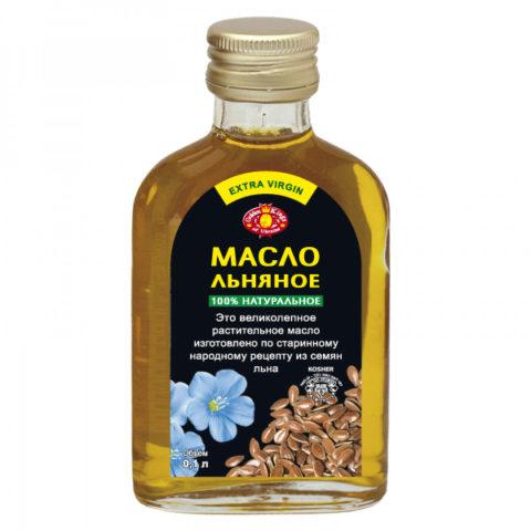 Заводская упаковка льняного масла