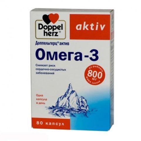 Доппельгерц Актив (Doppel herz Aktiv) Омега-3 №80