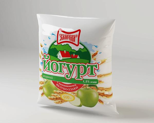Йогурт с яблоком и злаками (1,5% жирности)