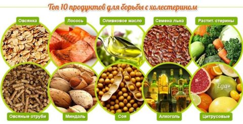 Продукты борющиеся с плохим холестерином