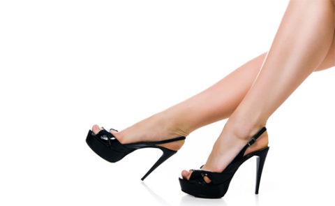 Высокий каблук – дополнительный риск развития варикоза