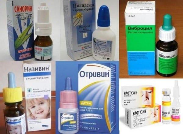 Популярные капли для лечения насморка