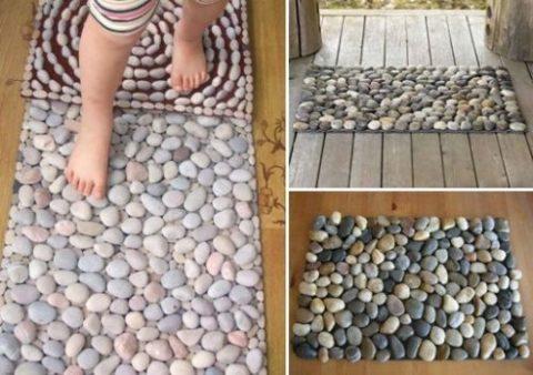 Массажный коврик можно приобрести или же сделать своими руками. Это лишь один из тысячи примеров