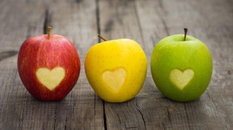 Яблоко – ведущий источник железа и витамина С.