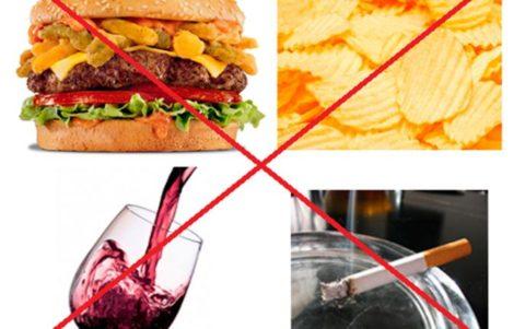 Очищение организма следует начинать с отказа от вредных привычек