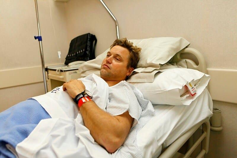 Душ после полостной операции
