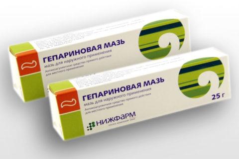 Гепариновая мазь помогает лечить тромбы и синяки на половом члене