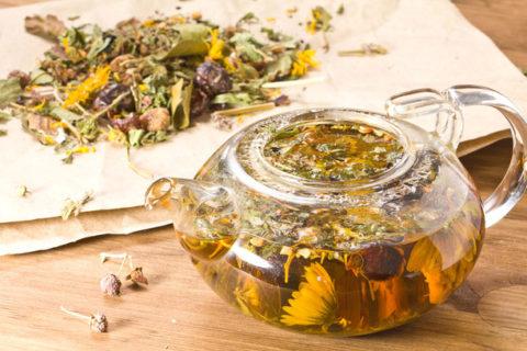Очистить сосуды и вывести холестерин помогут отвары из лекарственных растений.