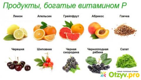 Где содержится витамин Р.