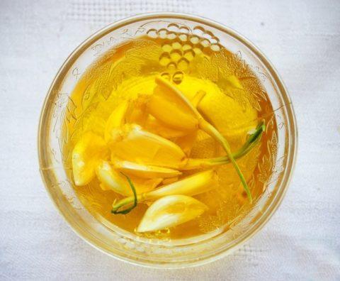 Настойка чеснока на подсолнечном масле
