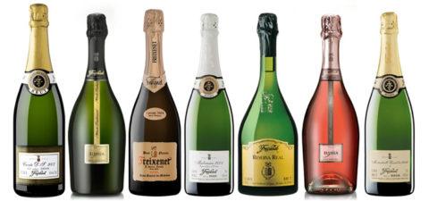 Шампанское разных сортов
