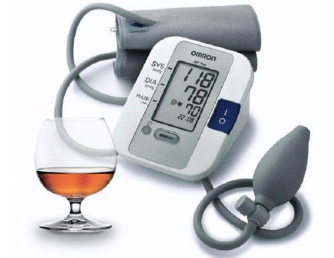 В зависимости от количества выпитого изменяется артериальное давление
