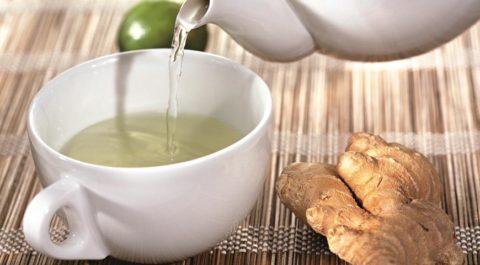 Чай только из корня имбиря