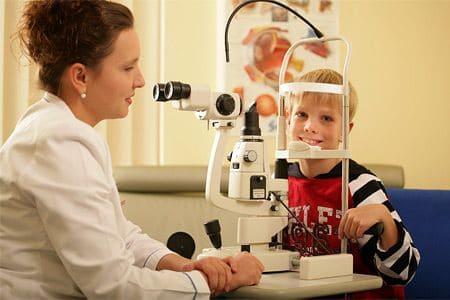 Обследование глазного дна.
