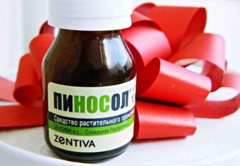 Пиносол – препарат на растительной основе.