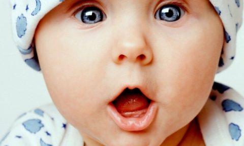 Расширение сосудов глазного дна у новорожденного.
