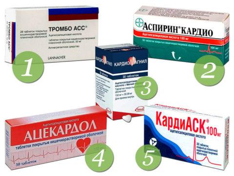 Популярные лекарства, используемые для профилактики сосудистых осложнений