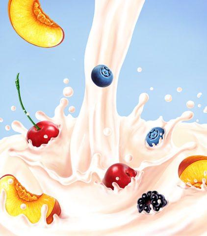 Ненатуральные, термизированные йогурты