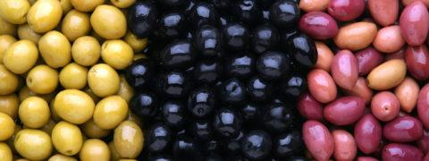 Возможные цвета оливок