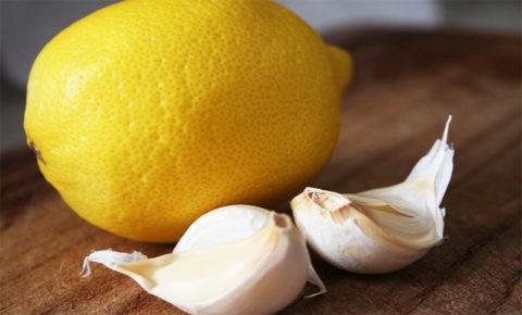 Чеснок и лимон – основные ингредиенты при чистке сосудов