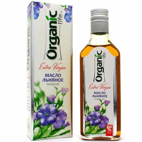 Льняное масло «Organic life» для сердца и сосудов