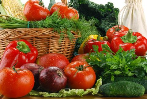 Свежие овощи