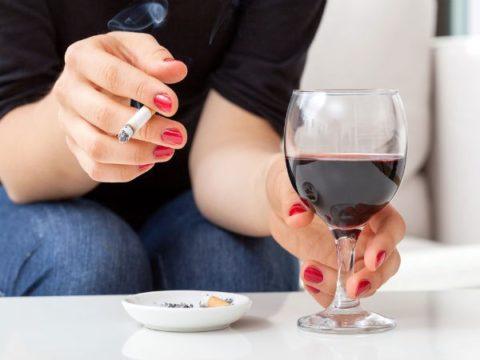 Исключить алкоголь и курение