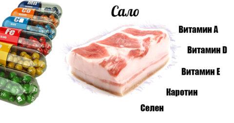 Содержание полезных компонентов в свином сале