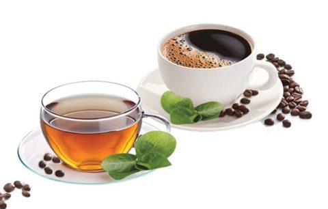 Чай и кофе в чашках