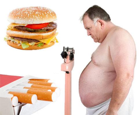 Вредные привычки и злоупотребление вредной пищей – причины атеросклероза