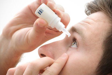 Глазные капли помогают снять симптоматику, но не устраняют причины